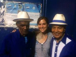 With Waldir 59 and Monarco, Velha Guarda da Portela, July 2013