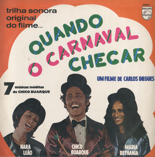 Album cover for the soundtrack to the 1972 musical Quando o Carnaval Chegar