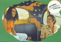 Maria Bethânia and Chico on the painted schoolbus.