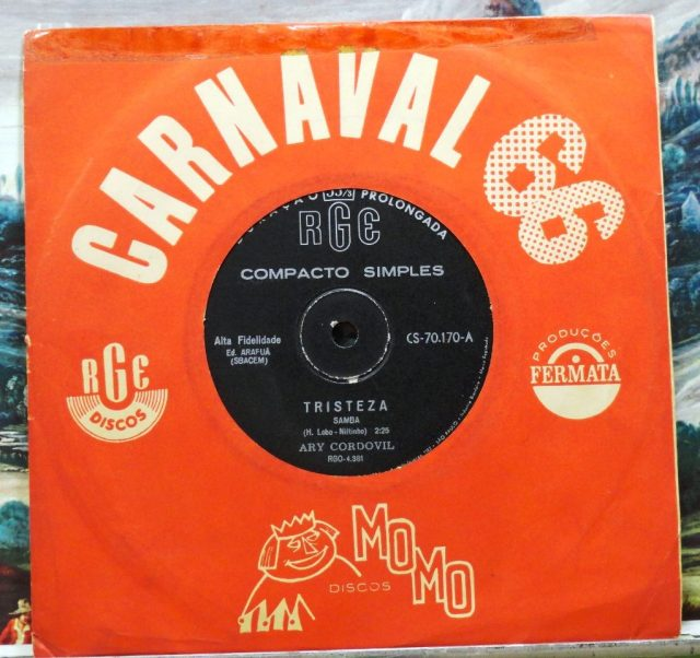 """In 1966, """"Tristeza"""" was released by Ari Cordovil, but it even more popular after Jair Rodrigues sang it live on the program """"O Fino da Bossa."""""""