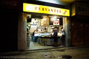 """Cervantes Bar in Copacabana, where Paulinho da Viola worked on the lyrics to """"Coisas do mundo, minha nega"""". Photo via blogsemdestino.com."""
