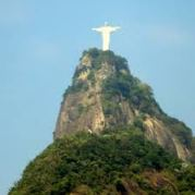 View of Corcovado similar to the view from Tom Jobim's window in Ipanema in 1960.
