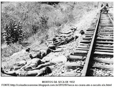 The drought of 1932 was one of the worst of the century for Brazil's northeast. Above, migrants who passed away while trying to escape.