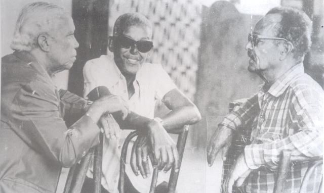 Carlos Cachaça, right, with Cartola and Nelson Cavaquinho.