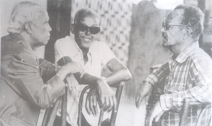 Carlos Cachaça, right, with Cartola and Nelson Cavaquinho.