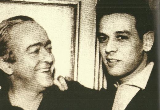 Vinicius de Moraes and Carlos Lyra in the early 1960s.