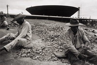 Construction workers in Brasilia, 1959.