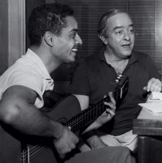"Vinicius de Moraes and Baden Powell, whose friendship and musical partnership Powell's widow Silvia likened to a ""sexless marriage."""