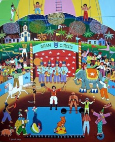 "Each song on the ""Grande Circo Místico"" album came with its own illustration by Naum Alves de Souza"