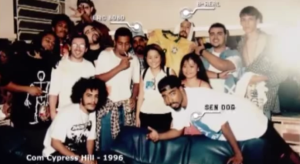 Black Alien (L) with Cypress Hill, 1996.