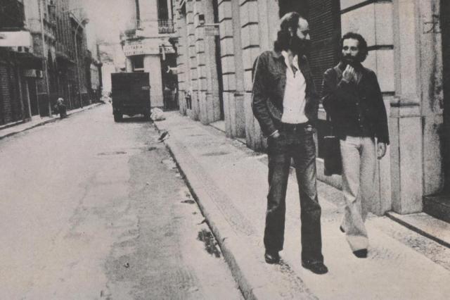 Aldir Blanc (L) with João Bosco, 1976.