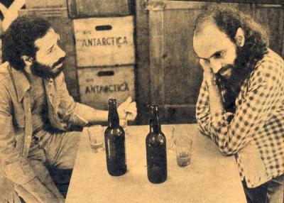 João Bosco, L, and Aldir Blanc, late 1970s.