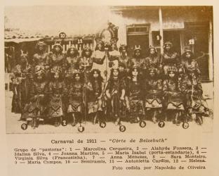 Pastoras of Ameno Resedá, Carnaval 1911. Enredo Côrte de Belzebuth.