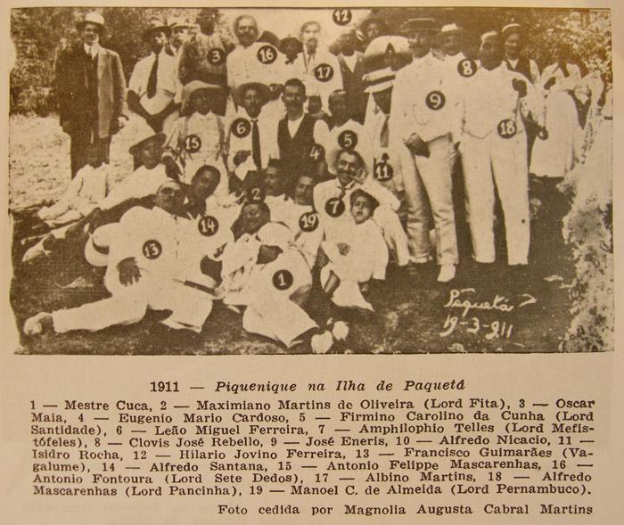 Ameno Resedá picnic in Paquetá, 1911.