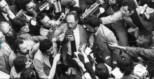 Pernambucan leftist leader Miguel Arraes returns to Brazil on 15 September 1979 after 15 years in exile.