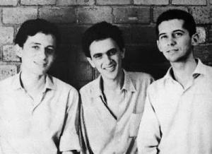 Torquato Neto, Caetano Veloso, and José Carlos Capinan.