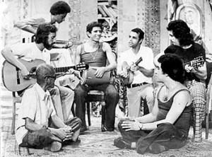 Cartola, Roberto Nascimento, Cláudio Jorge, Milton Manhães, Joel Nascimento, Guinga & João Nogueira (clockwise from left)