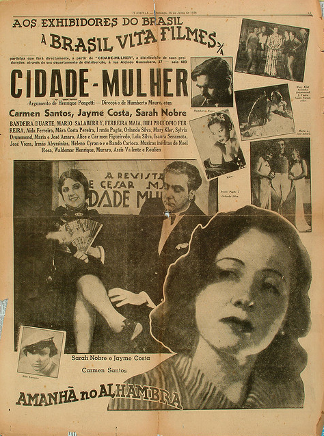 Ad for the 1936 movie Cidade Mulher